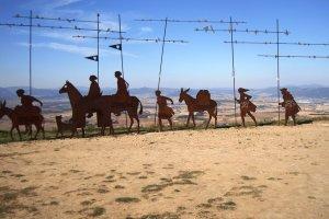 Pilgrim in Spain - Iron sculptures