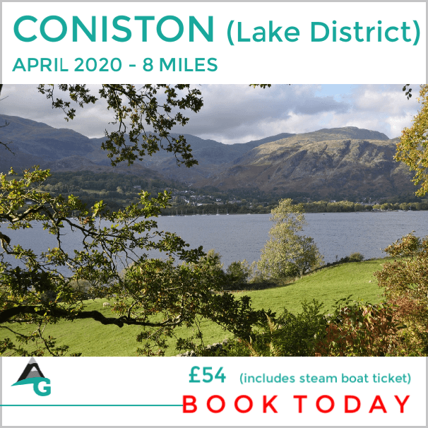 Coniston lakes walk with steam boat ride.