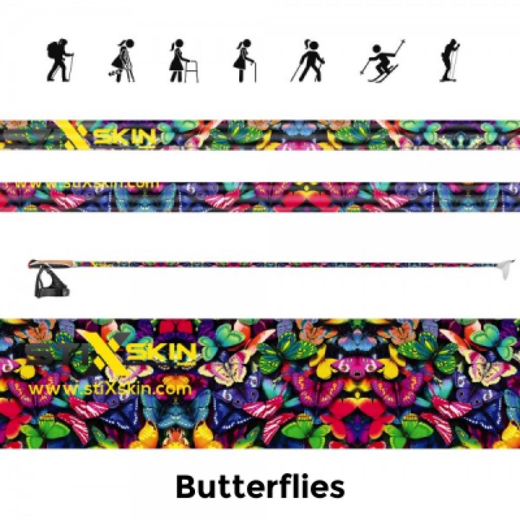 butterfly walking pole skin