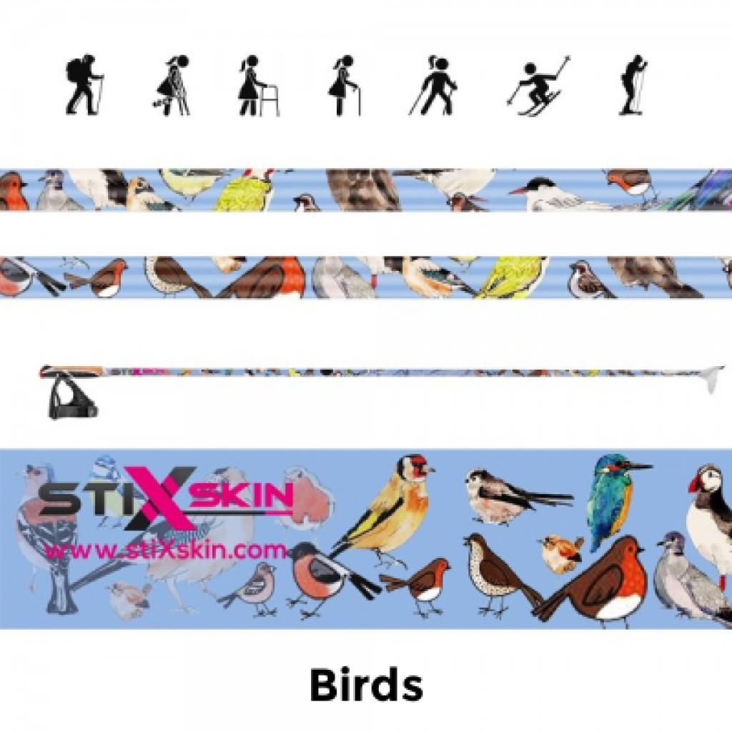 birds Walking pole skins
