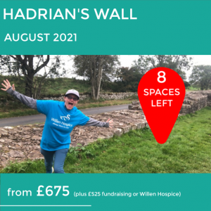 Hadrians wall 8 places left