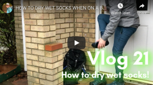 How to dry wet socks
