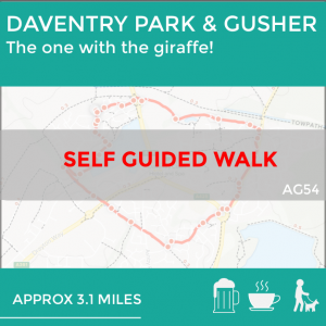 Daventry park and gusher trail self guided walk in Northamptonshire